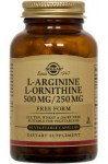L-Arginine/L-Ornithine 500 mg/250 mg Vegetable Capsules 100 caps